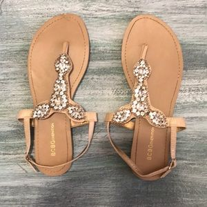 BCBG Embellished Crystal Baily Sandals